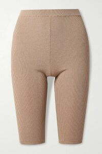 Monse - Asymmetric Lace-trimmed Cotton-blend Poplin Skirt - Black