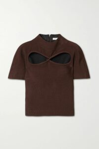 Balmain - Double-breasted Houndstooth Tweed Coat - Black