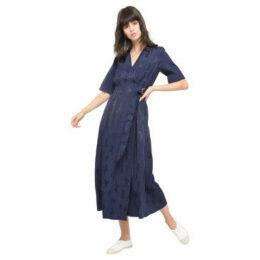 Bensimon  Long Dress Cactus Stitching  women's Long Dress in Blue