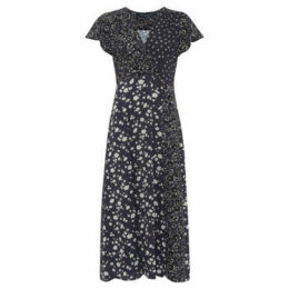 French Connection  Floral print long dress  women's Long Dress in Blue