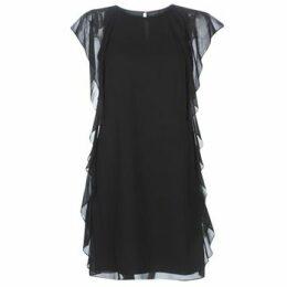 Lauren Ralph Lauren  RUFFLED GEORGETTE DRESS  women's Dress in Black