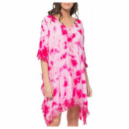 Tantra  Poncho dress tie and dye  women's Tunic dress in Pink