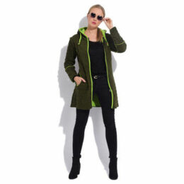 Couleurs Du Monde  Cardigan  women's Coat in Green