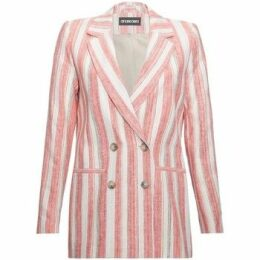 Anastasia  EX Next Pink Stripe Womens DB Blazer  women's Jacket in Pink