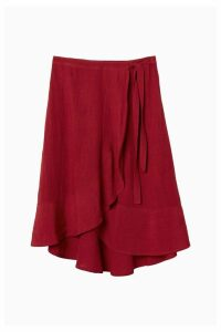 Womens FatFace Red Mila Wrap Skirt -  Red