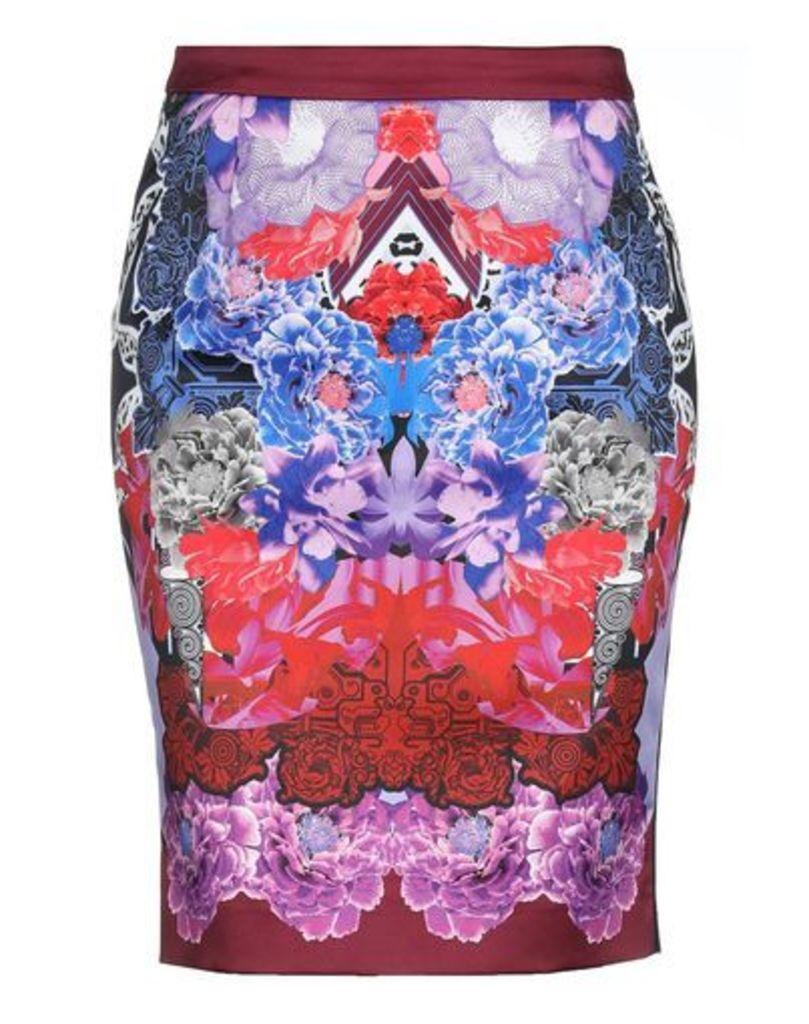 VERSACE JEANS SKIRTS Knee length skirts Women on YOOX.COM