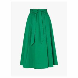 L.K.Bennett Susanna Full Cotton Skirt, Green