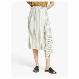 Modern Rarity Fluid Striped Skirt, White