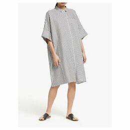 Kin Oversized Stripe Shirt Dress, Grey