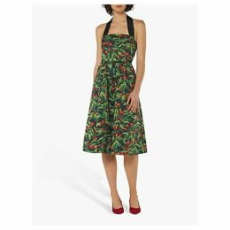 L.K.Bennett Novak Cherry Halterneck Dress, Black/Multi