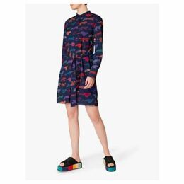 PS Paul Smith Cheetah Shirt Dress, Navy