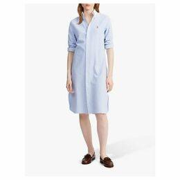 Polo Ralph Lauren Stripe Shirt Dress, Harbour Island Blue