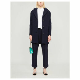 Genial wool cocoon coat