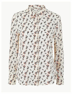 M&S Collection Printed Button Detailed Shirt