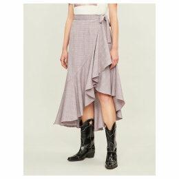 Lagos high-waisted ruffled woven skirt