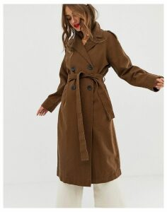 ASOS DESIGN washed canvas trench