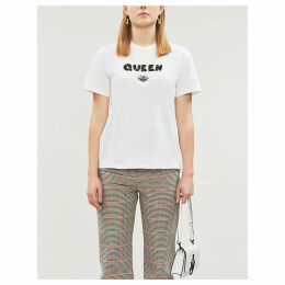 Anna sequin-embellished cotton T-shirt
