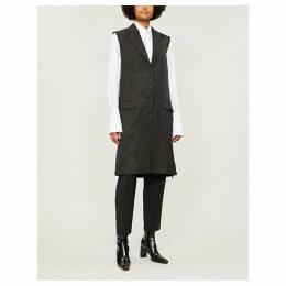 Raw-edge satin coat
