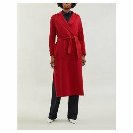 Algeri wrapover wool coat