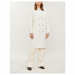 Belted virgin wool trench coat