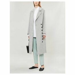 New Signe asymmetric wool and cashmere-blend coat