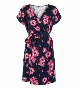 Blue Vanilla Blue Floral Print Dress New Look