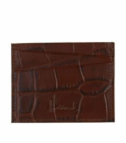 Crocodile Embossed Leather Cardholder