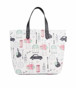 Small City Style Print Tote Bag