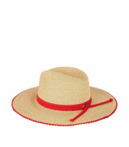 Straw Pom Pom Edge Hat