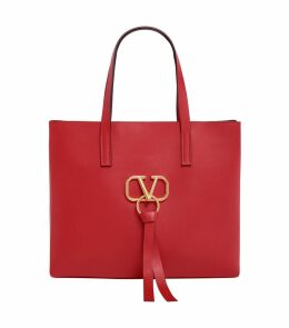 Leather VRing Tote Bag