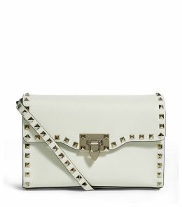 Small Leather Rockstud Cross Body Bag