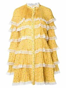 Philosophy Di Lorenzo Serafini layered short dress - Yellow