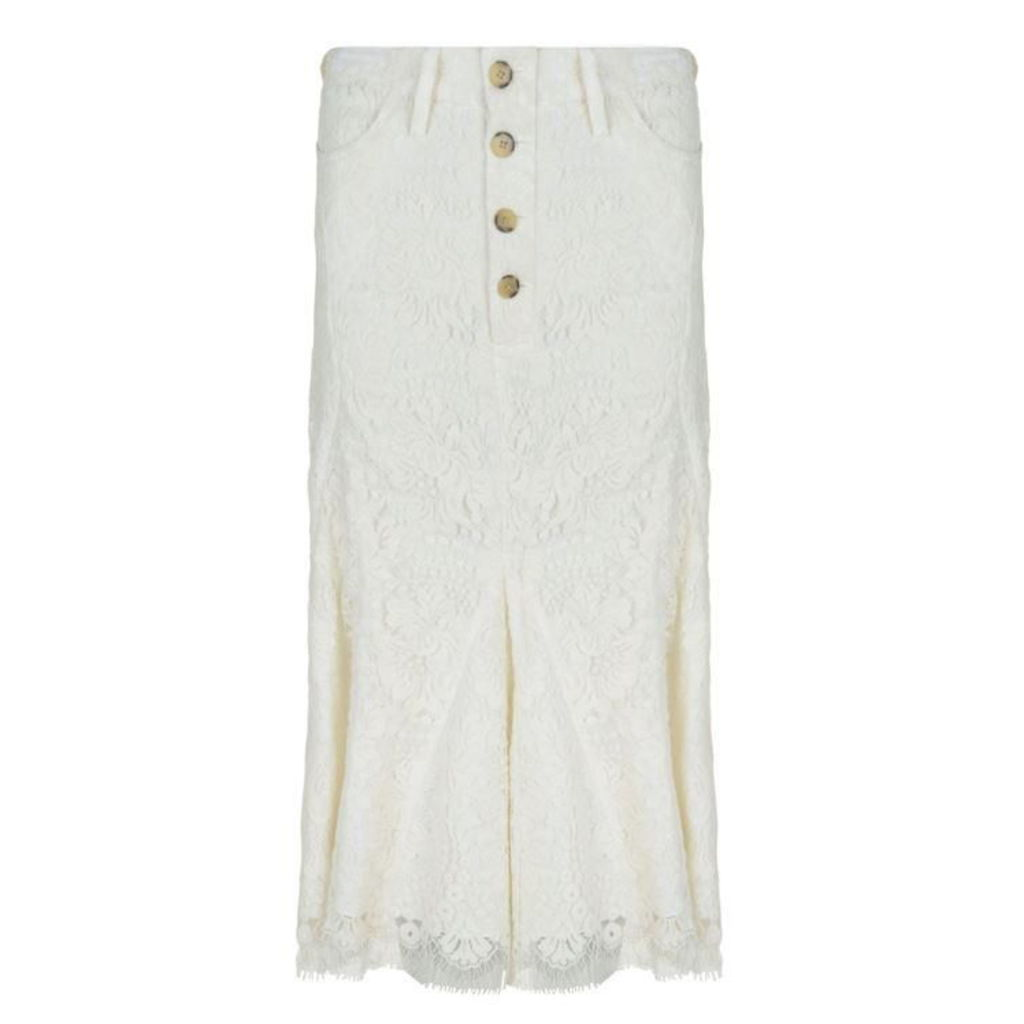 Victoria by Victoria Beckham Lace Midi Skirt