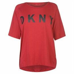 DKNY Sparkle Logo T Shirt Ladies