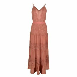 PERSEVERANCE LONDON Lace Panel Maxi Dress