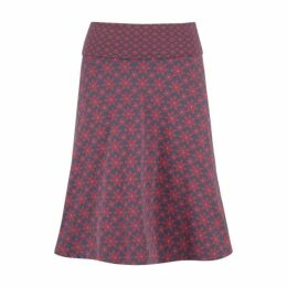 Tile Knee Length Jersey Skirt