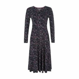 Long Sleeve Floral Sprig Print Dress