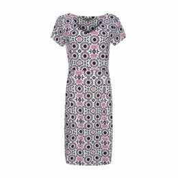 Mosaic Print Jersey Dress