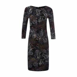 Black Flocked Dress