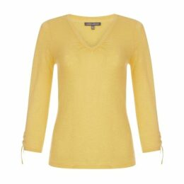 Yellow Ruched Detail Jumper