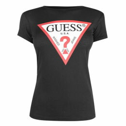 Guess Womens Logo T Shirt SMU