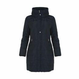 Blue Panelled Puffa Coat