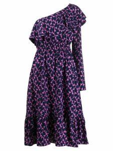 La Doublej Boogie one shoulder dress - Blue