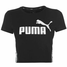 Puma Puma Tape Cropped T Shirt Womens