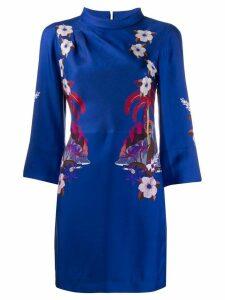 Etro floral mini dress - Blue