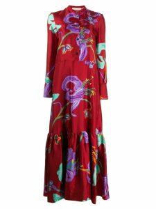 La Doublej Maxi Shirt Dress - Red