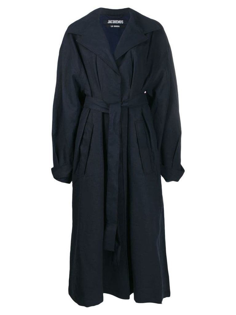 Jacquemus oversized belted trench coat - Blue