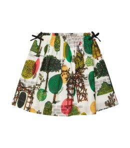 Graphic Bow Skirt