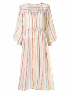 Suboo Playhouse Balloon Sleeve Midi Dress - Multicolour