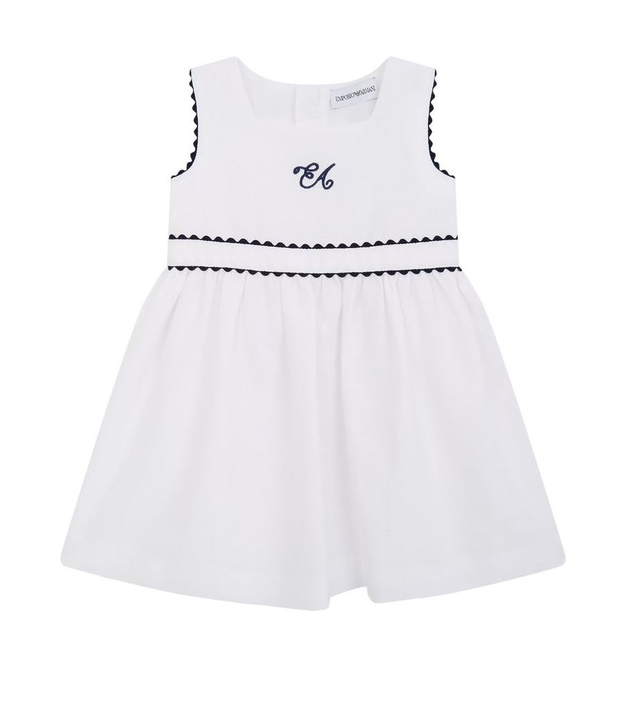 Logo Embroidered Dress